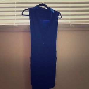 Royal blue tunic dress xs